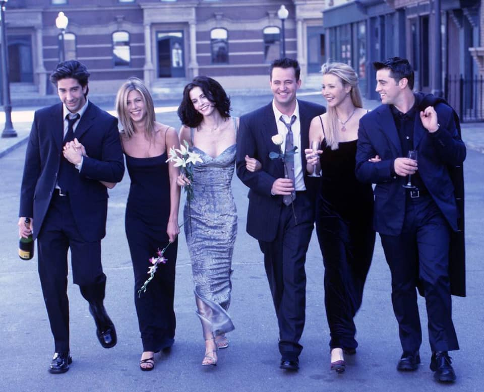 Courteney Cox e o elenco de Friends