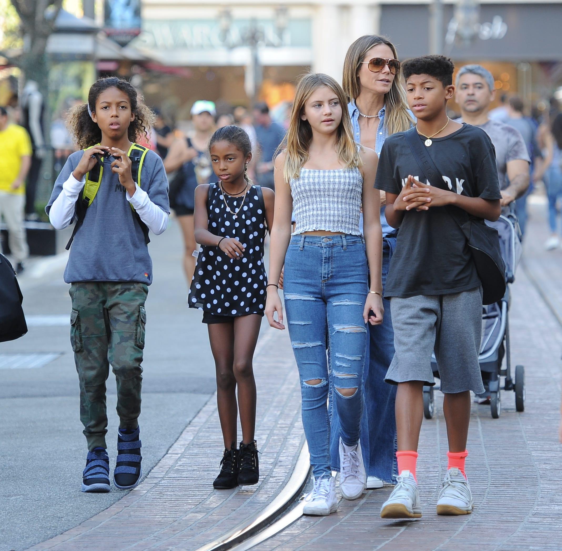Heidi Klum e os filhos