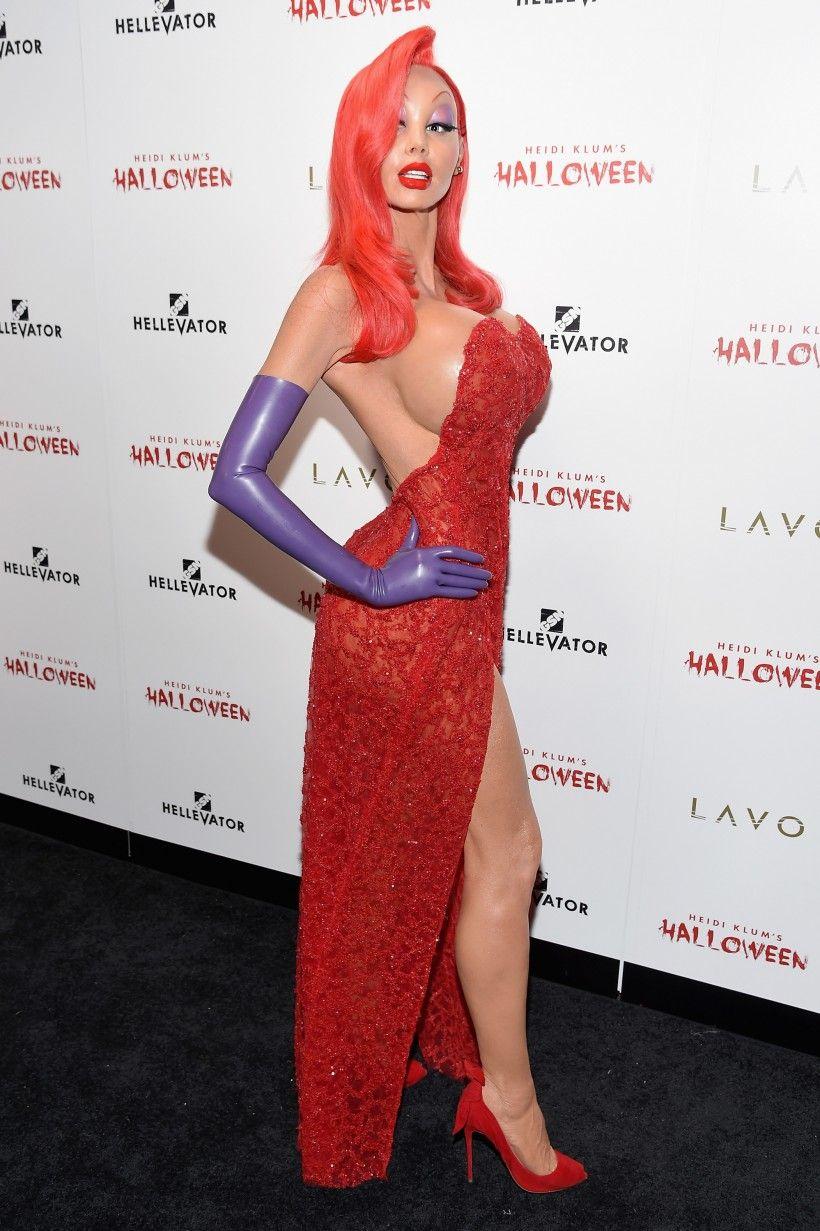 Heidi Klum como Jessica Rabbit no Halloween
