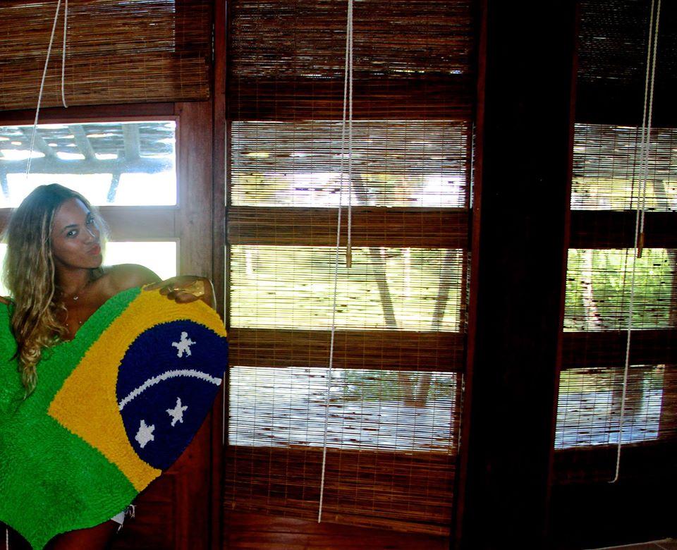 Beyoncé em visita ao Brasil