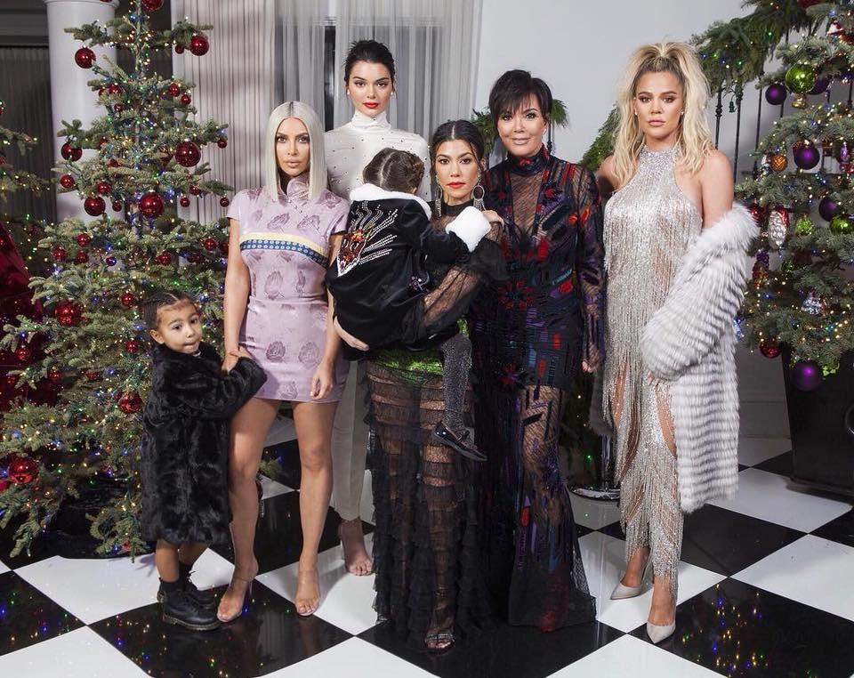Kourtney Kardashian em família