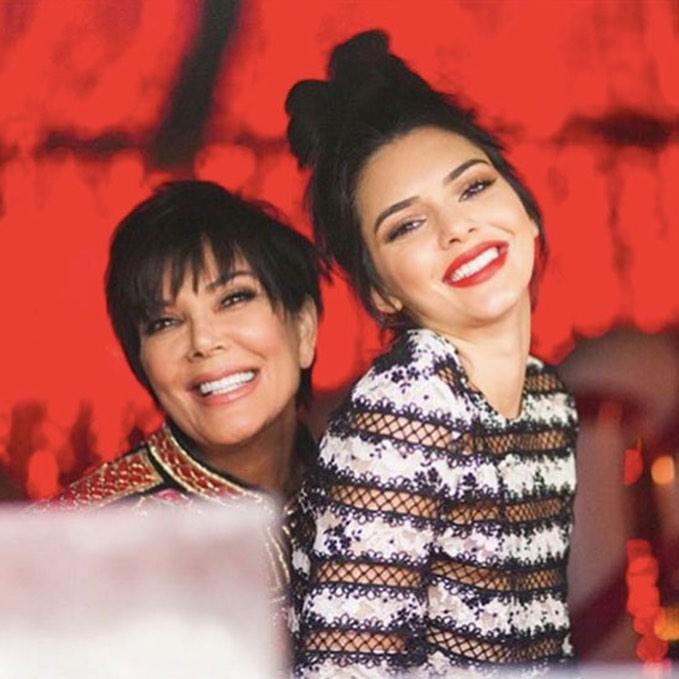 Kris Jenner e a filha Kendall
