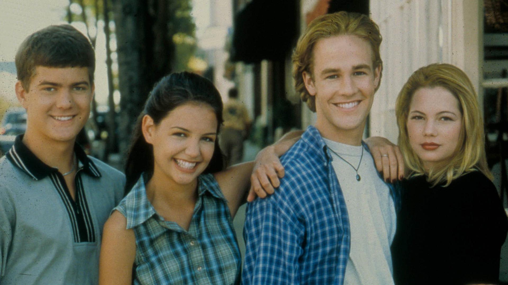 Katie Holmes e o elenco de Dawson's Creek