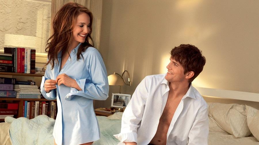 Ashton Kutcher e Natalie Portman em Sexo Sem Compromisso