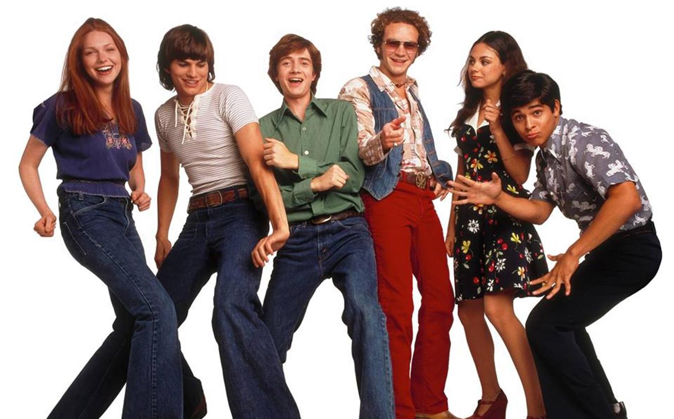 Ashton Kutcher e o elenco de That 70s Show