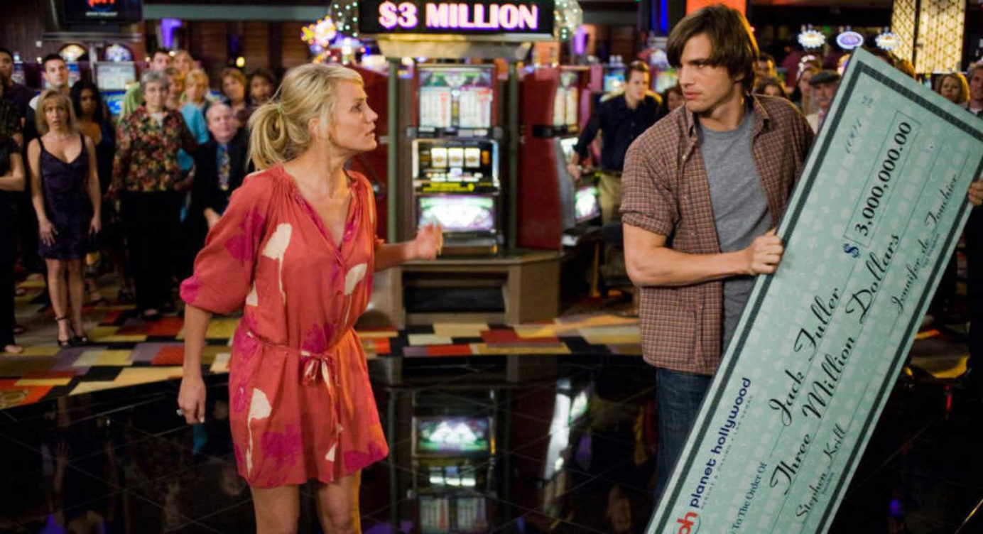 Cameron Diaz e Ashton Kutcher em cena de Jogo de Amor em Las Vegas