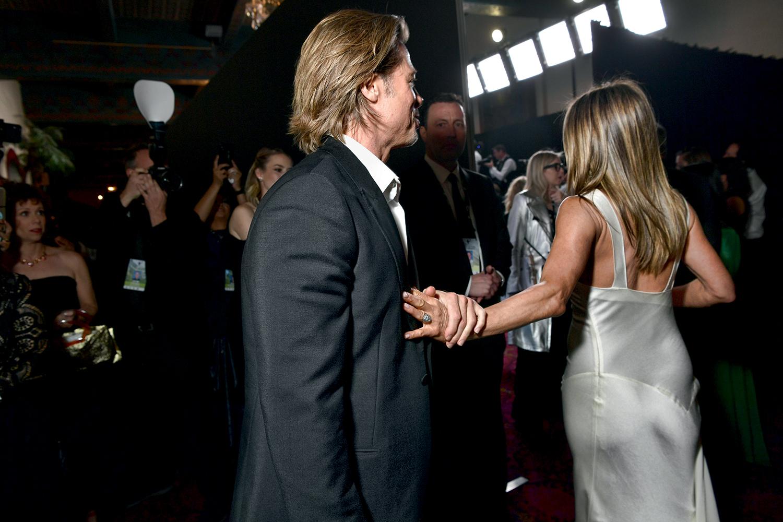 Jennifer Aniston reencontra Brad Pitt no SAG Awards