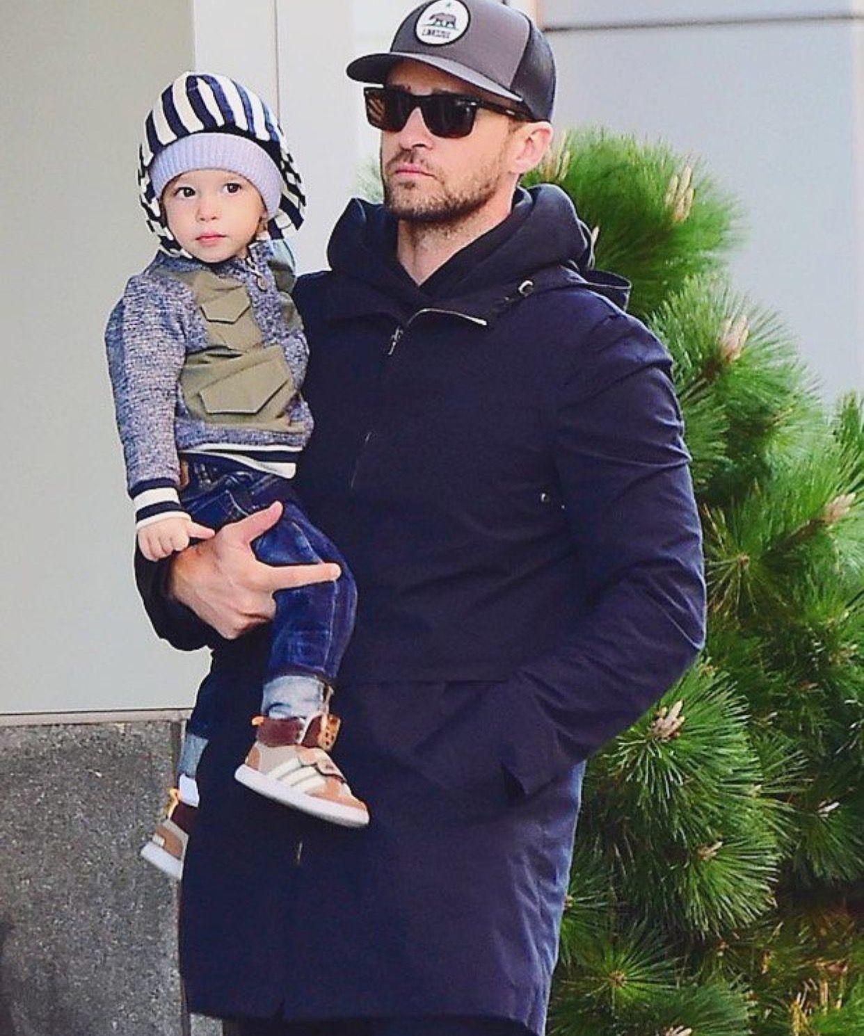 Justin Timberlake com o filho
