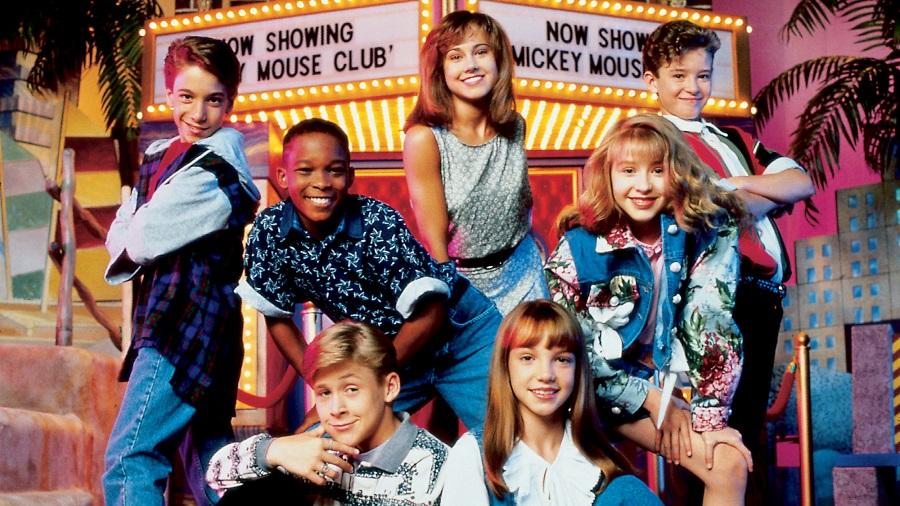 Justin Timberlake e o elenco de All New Mickey Mouse Club