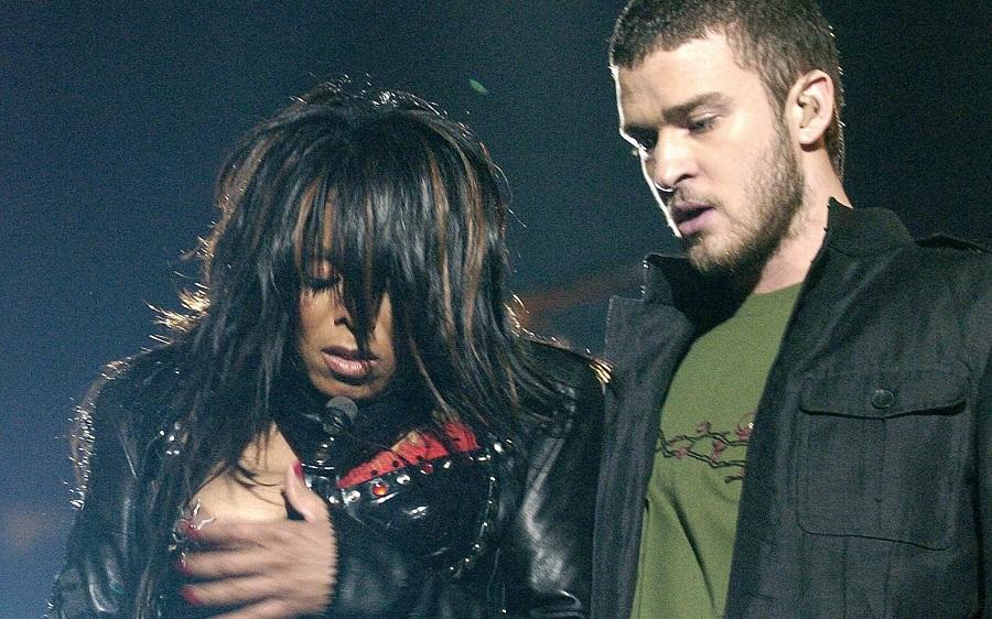 Justin Timberlake e Janet Jackson durante o Nipplegate