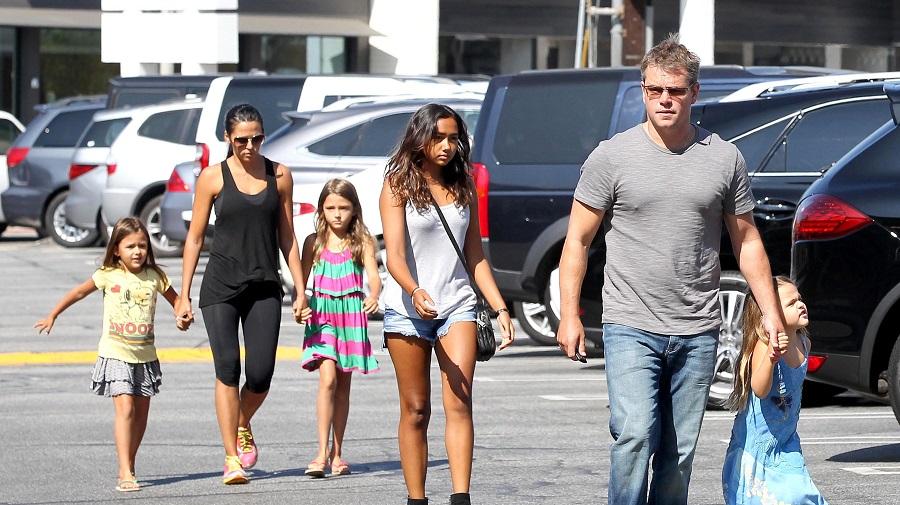 Matt Damon e suas filhas