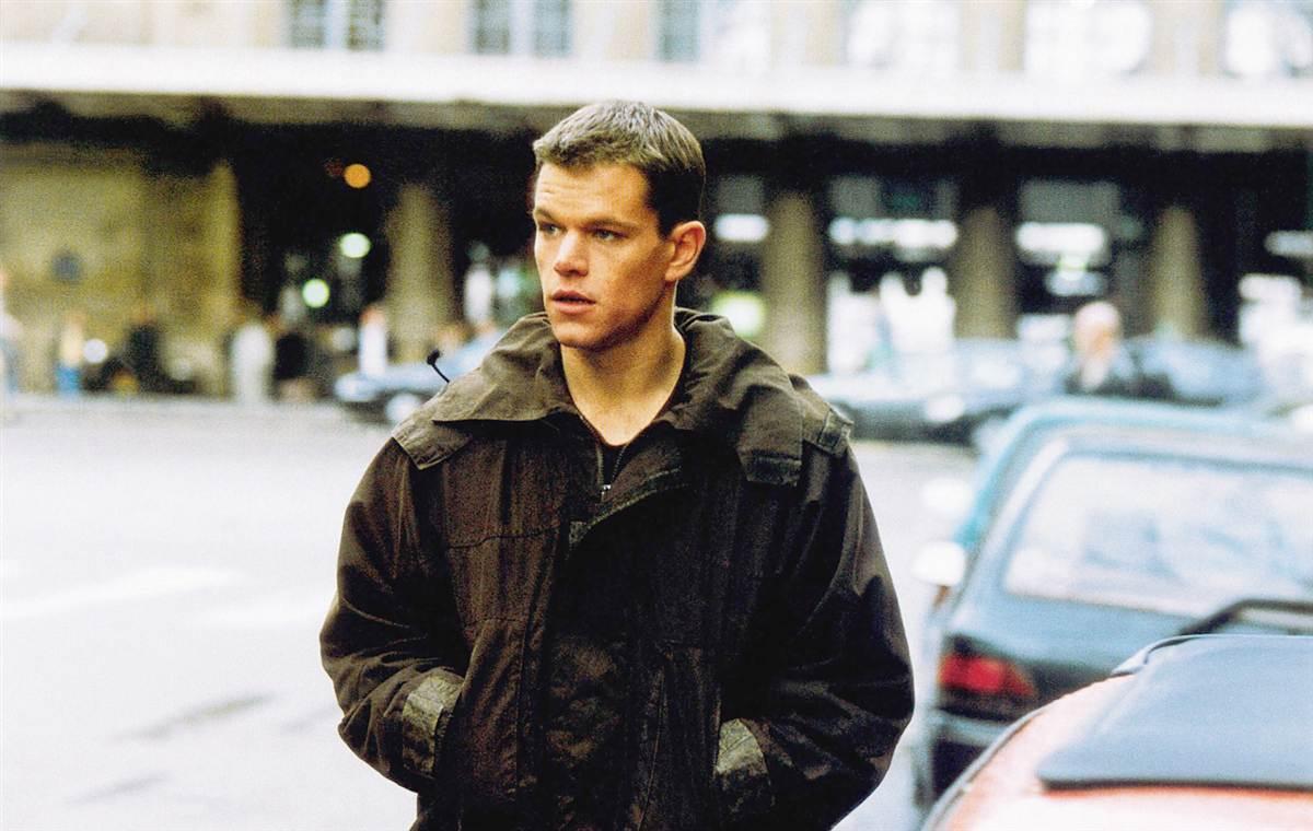 Matt Damon em cena de filme da trilogia Bourne