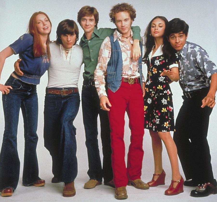 Mila Kunis e o elenco de That 70's Show