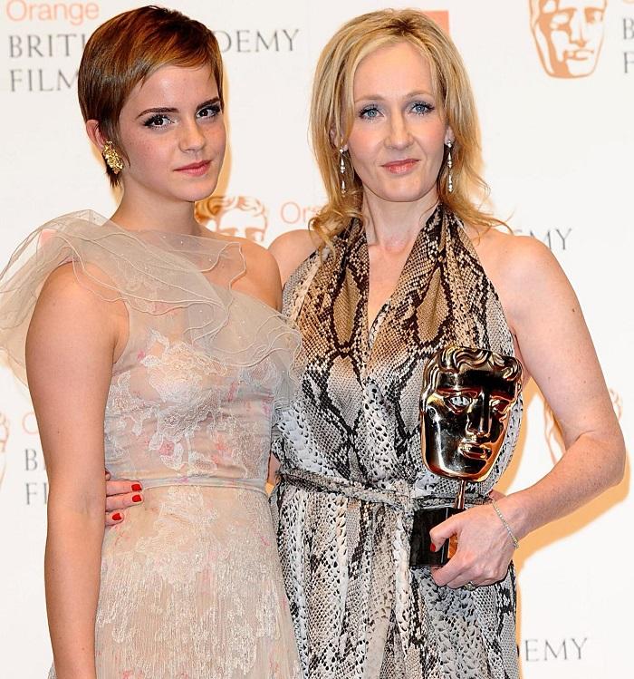Emma Watson e JK Rowling