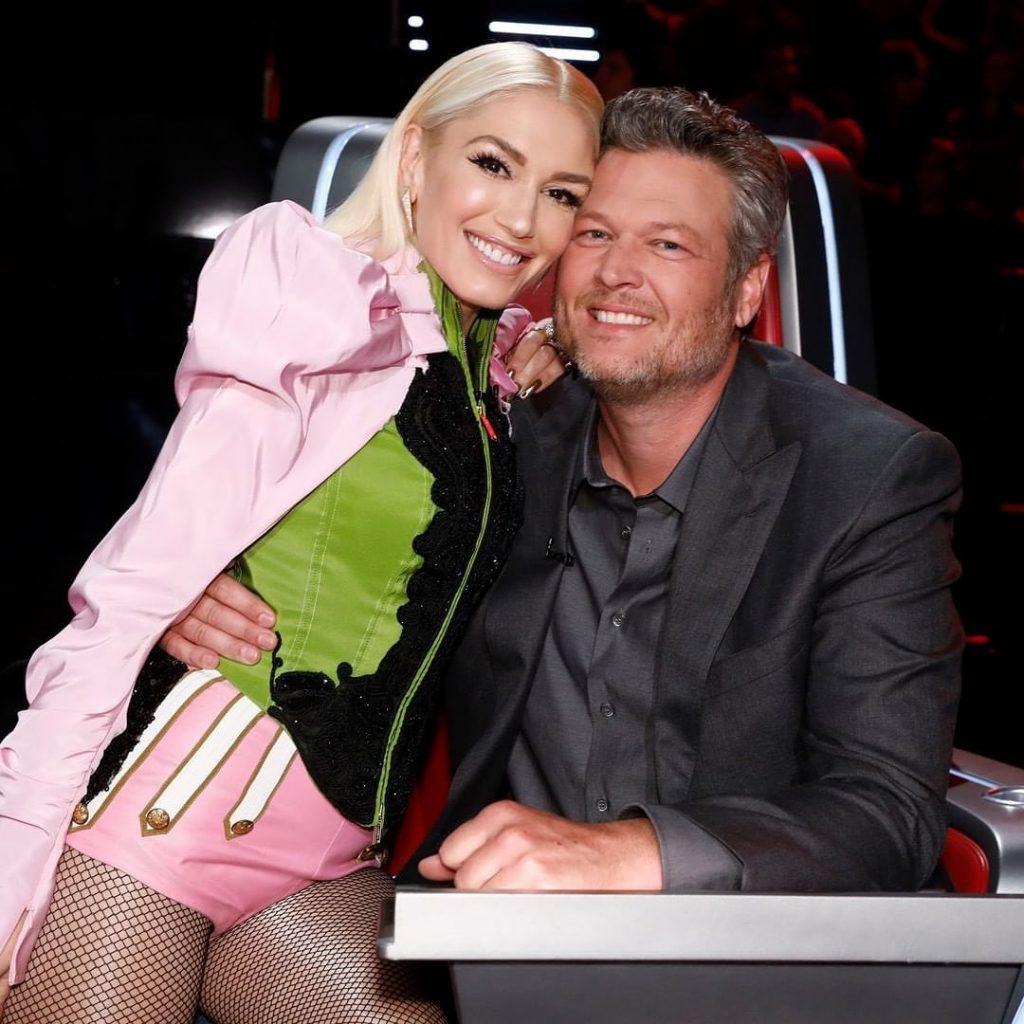 Blake Shelton e Gwen Stefani no The Voice