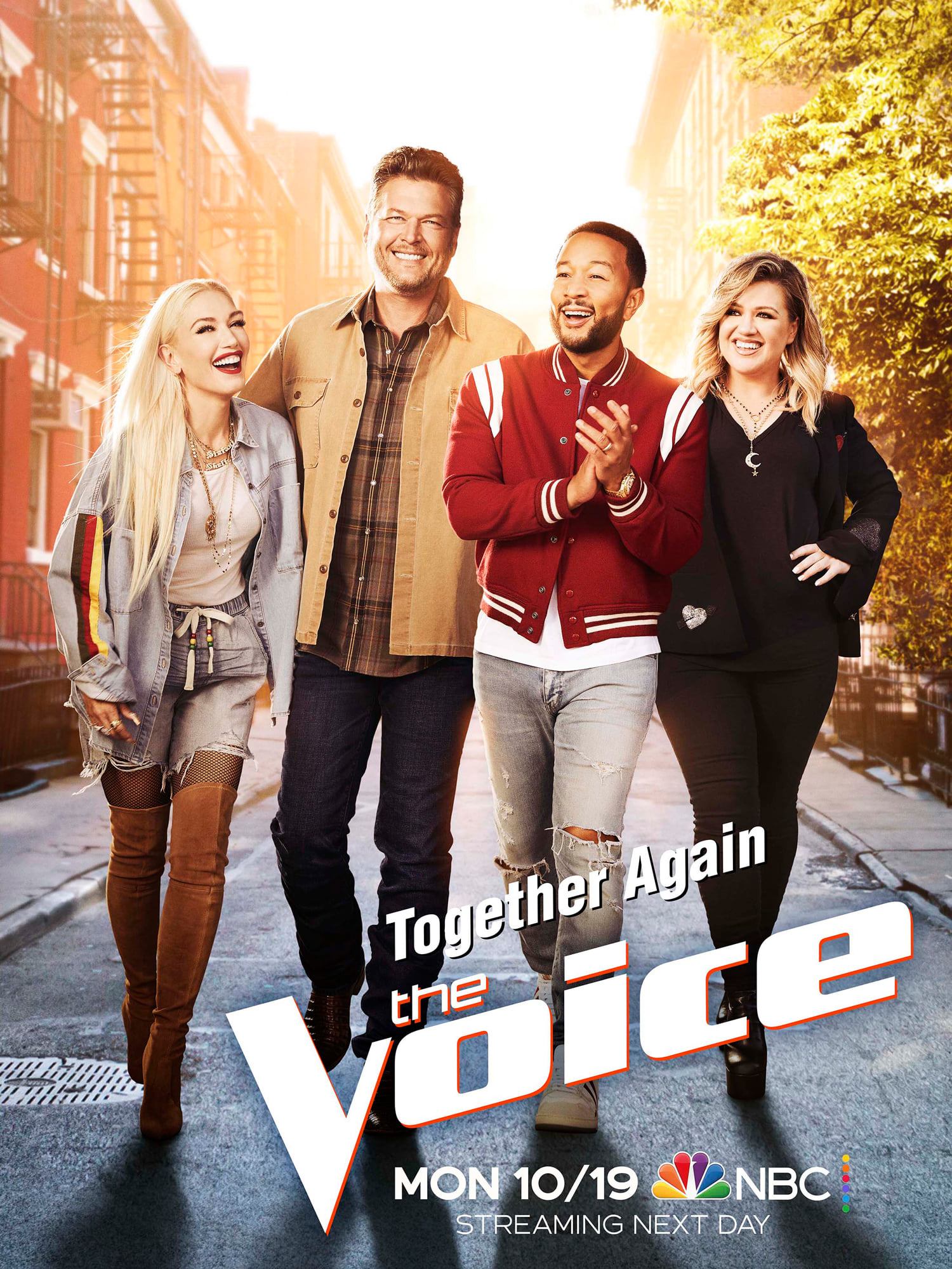 Blake Shelton e os jurados The Voice