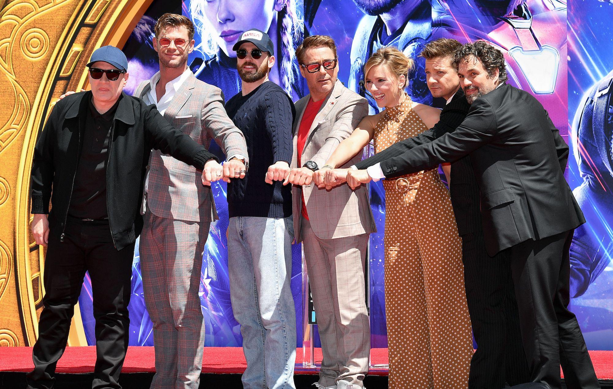 Chris Evans e o elenco de The Avengers