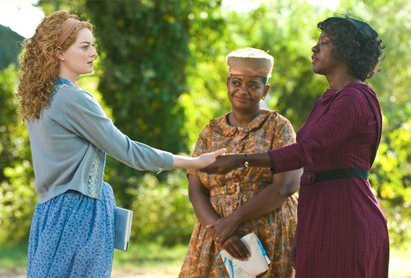 Emma Stone, Octavia Spencer e Viola Davis em Histórias Cruzadas