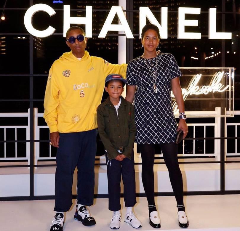 Pharrell Williams e família