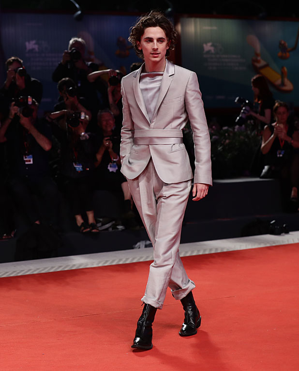 Timothée Chalamet no red carpet